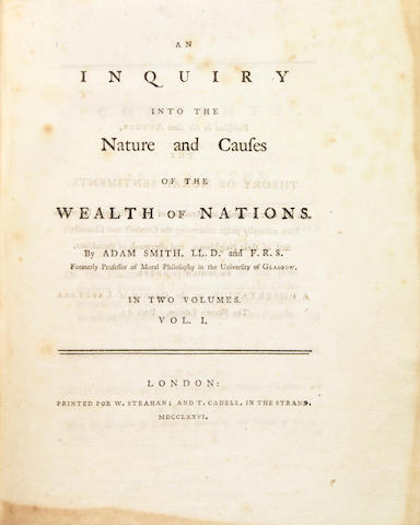 Smith, Adam.  Wealth of Nations, 2 vols