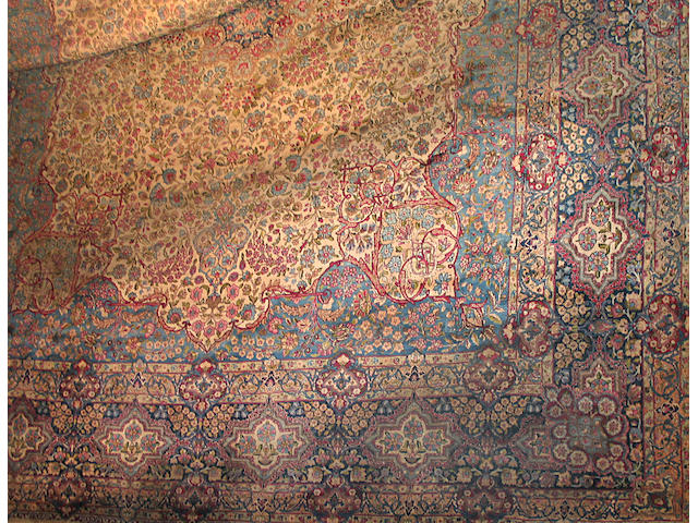 A Kerman carpet South Central Persia, size approximately 13ft. 7in. x 17ft. 3in.