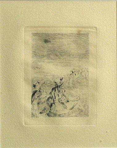 Pierre-Auguste Renoir (French, 1841-1919); Sur la Plage, à Berneval;