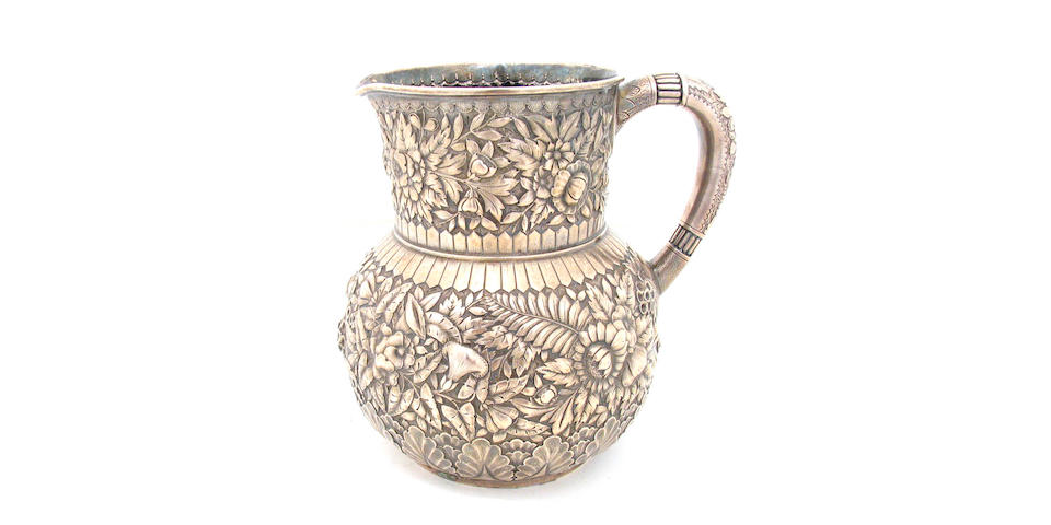 Sterling Floral Chased Water Pitcher by Tiffany & Co.