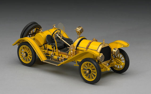 A 1:20 scale model of 1912 Mercer Raceabout by Gerald Wingrove, 1969,