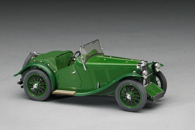 A 1:20 scale model of 1933 MG J2 by Gerald Wingrove, 1972,