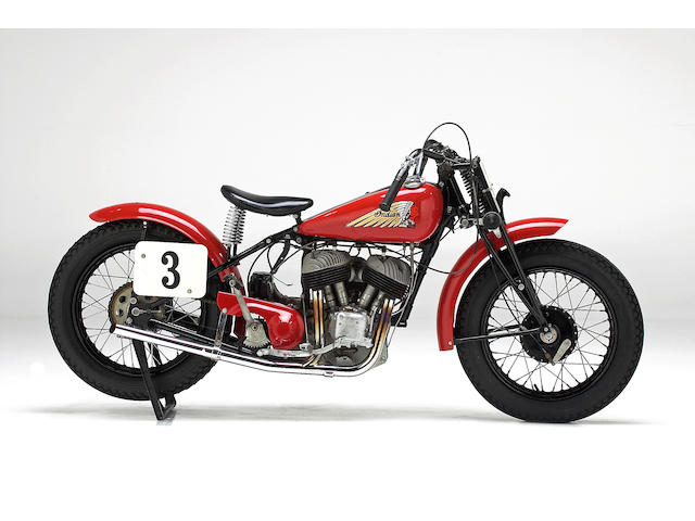 Formerly the property of Steve McQueen,1940 Indian 45ci Sport Scout Engine no. FDO406