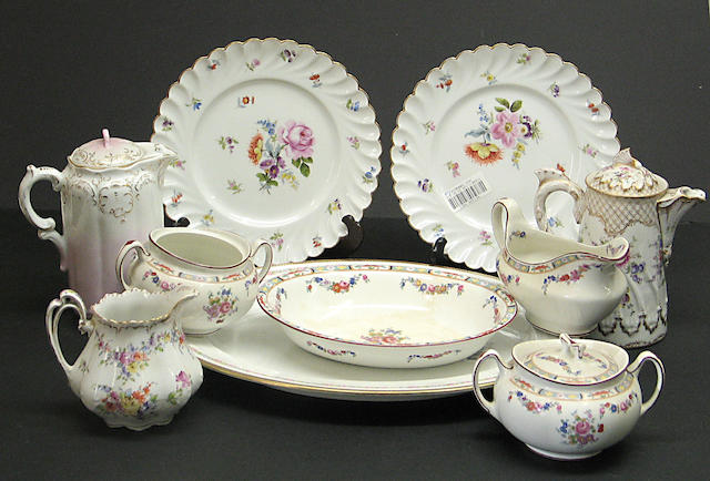 An assembled group of European ceramic tableware