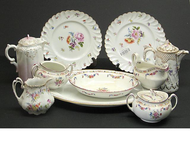 An assembled group of European ceramic tableware