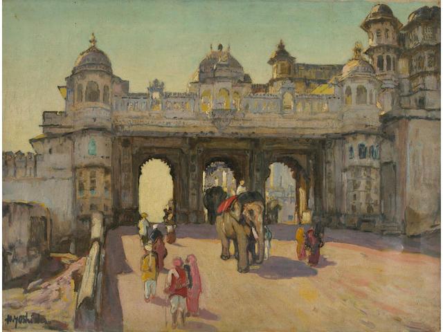 Hiroshi Yoshida (1876-1950): Udaipur Palace Gate