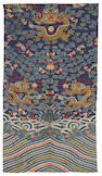 A group of seven embroidered or kesi-woven silk panels  19th/20th Century