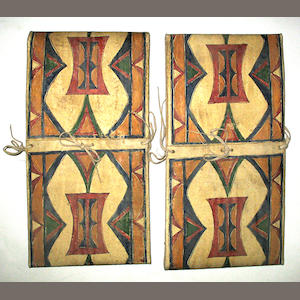 A pair of Plains parfleche envelopes