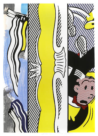 """Roy Lichtenstein (American, 1923-1997); Two Paintings: Dagwood, from """"Paintings"""" Series;"""