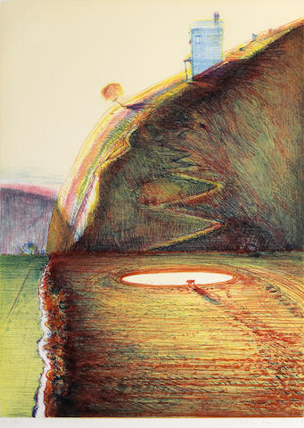 Wayne Thiebaud (American, born 1920); Valley Farm;