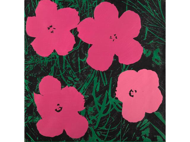 Elaine Sturtevant (American, 1926) Warhol Flowers, 1969 - 1970 22 x 22in (56 x 56cm)