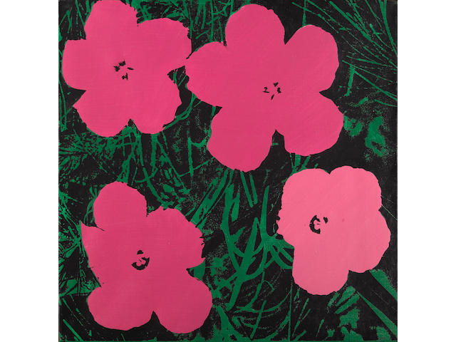 Elaine Sturtevant (American, born 1926) Warhol Flowers, 1969 - 1970 22 x 22in (56 x 56cm)