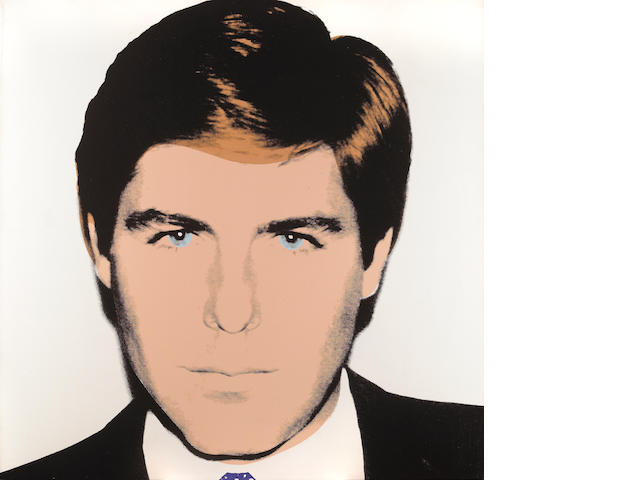 Andy Warhol (American, 1928-1987) Portrait of Craig Johnson (White), 1985 40 x 40in (101.6 x 101.6cm)