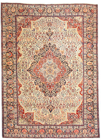 A Fereghan Sarouk carpet Central Persia,  size approximately 8ft. 7in. x 12ft.