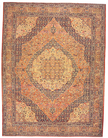 A Hadji Jalili Tabriz carpet Northwest Persia, size approximately 11ft. 2in. x 14ft. 3in.