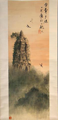 After Gao Jianfu (1879-1951) Two paintings