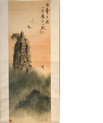 After Gao Jianfu (1879-1951) Two paintings