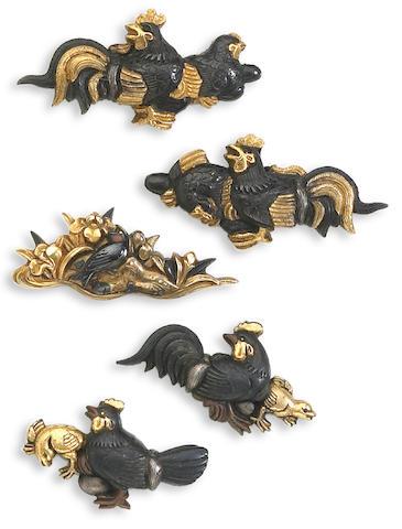 Two pairs of menuki Edo Period, 18th Century