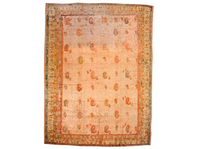 An Angorra Oushak West Anatolia, size approximately 12ft. 2in. x 16ft. 2in.