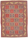 A part silk Dabir Kashan rug Central Persia, size approximately 4ft. 7in. x 6ft. 9in.