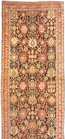 A Karabagh long carpet  Caucasus, size approximately 7ft. x 21ft.