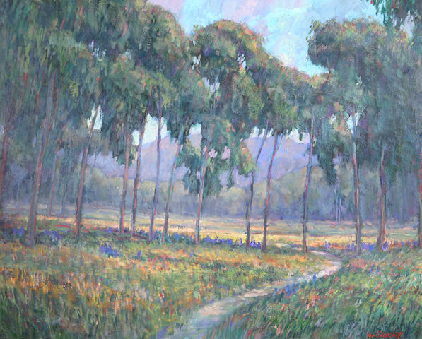 William Dorsey (born 1942) Path through a Stand of Trees 24 x 30in
