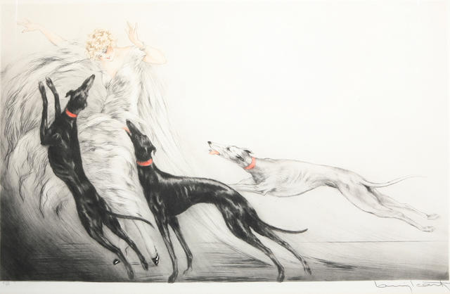 Louis Icart (French, 1888-1950); Coursing II;