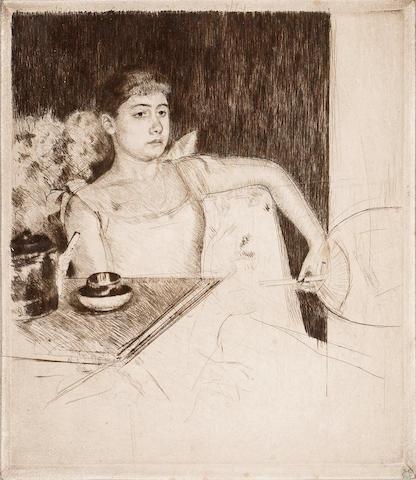Mary Cassatt (American, 1844-1926); Tea;