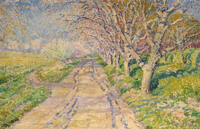 Vaclav Radimsky (1867-1946) A tree-lined road 25 3/4 x 39 1/2in (65.4 x 100.4cm)