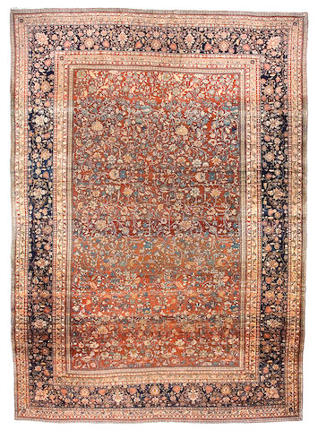 A Mohtasham Kashan carpet Central Persia,  size approximately 8ft. 1in. x 11ft. 1in.