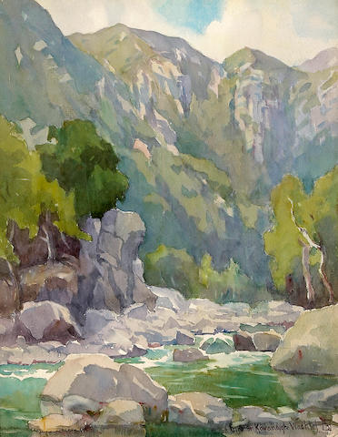 Marion Kavanaugh Wachtel (American, 1876-1954) Matilija Canyon (No.1) 18 x 14in