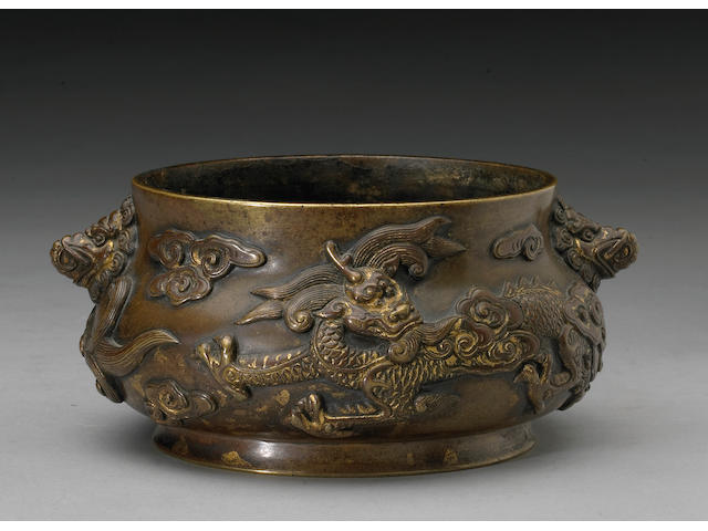 A cast bronze censer Xuande Mark, 18th Century