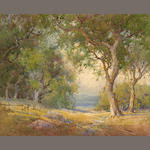 Percy Gray (1869-1952) California Oak Grove 16 x 19 3/4in