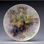Franz A. Bischoff (American, 1864-1929) Grapes, 1902 diameter: 18in