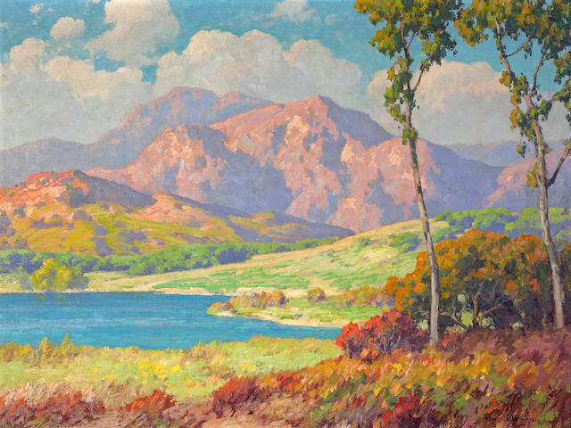 Maurice Braun (American, 1877-1941) Lake Hodges, San Diego 30 x 40in