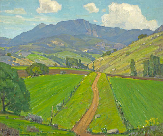 William Wendt (American, 1865-1946) A Trickle of Road 25 x 30in