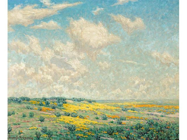Granville S. Redmond (American, 1871-1935) Antelope Valley 20 1/4 x 25in