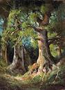 Deidrich Henry Gremke (American, 1860-1939) Forest Interior 16 1/2 x 12in