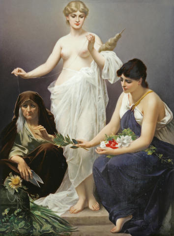 A Berlin porcelain plaque: The Three Fates