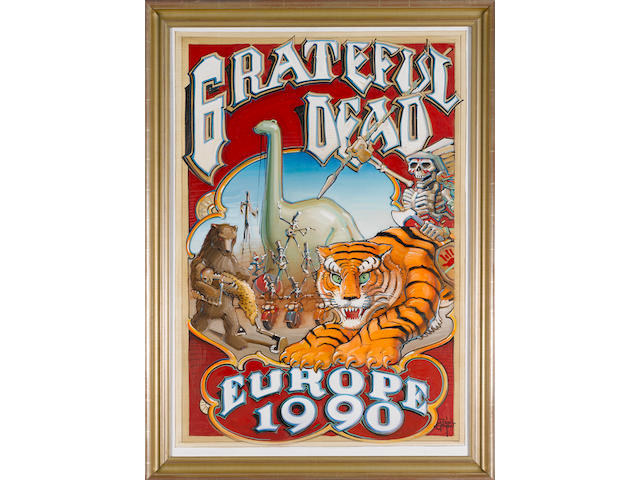 Rick Griffin: Grateful Dead - 'Without A Net' 1990 European Tour,