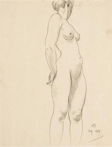 Maynard Dixon (1875-1946) Nude Turning, 1934 (No.56) 11 x 8 1/2in