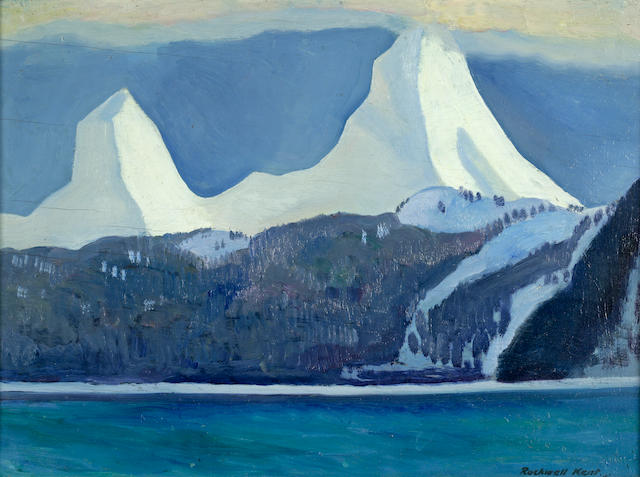 Rockwell Kent (American, 1882-1971) Snowy Peaks 12 x 15 3/4in