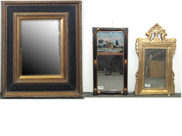 An assembled group of three mirrors