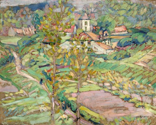 Joseph Raphael (1869-1950) Spring, Rue Engeland, Kriekeput 33 1/4 x 26 1/4in