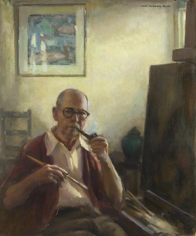 John Hubbard Rich (American, 1876-1954) Self-Portrait 30 x 25in
