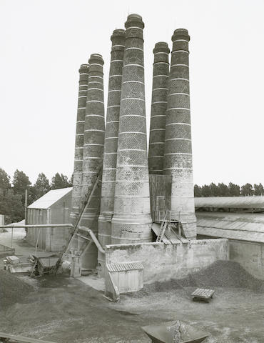 Bernd and Hilla Becher (German, 1931-2007 and born 1934); Lime Kilns, Brielle, Holland, Pl. 11, from
