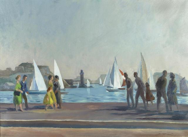 Emil Jean Kosa, Jr. (American, 1903-1968) Château d'If 21 x 28 3/4in