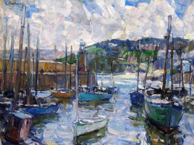 E. Charlton Fortune (1885-1969) St. Ives Harbor, circa 1923 12 1/4 x 16 1/4in
