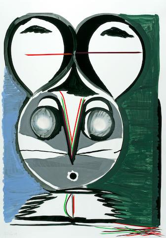 Thomas Scheibitz (German, born 1968) Untitled, 2004 35 1/4 x 25 1/2in (89.2 x 64.7cm)