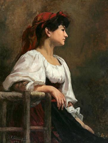 Klumpke, Seated Woman, French Peasant